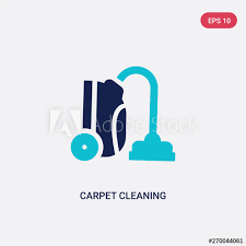 two color carpet cleaning vector icon