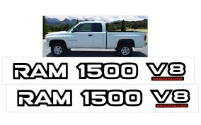 Graphic Express 1999 01 Dodge Ram 1500 V8 Magnum Door Decal Set 2 X 19 25