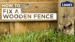 How Do I Fix My Wooden Fence