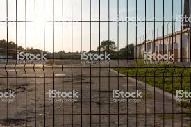Strong Safe Industrial Fencing Made Of Heavy Duty Metal Wire Stock Photo Download Image Now Istock