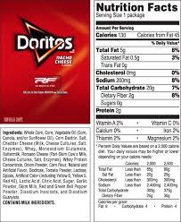 1 small bag of doritos calories the