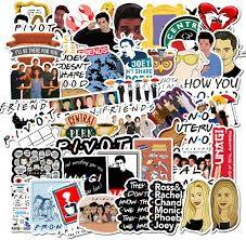 Amazon Com 50pcs Movie Friends Themed Vinyl Stickers For Personalize Laptop Car Helmet Skateboard Luggage Graffiti Decals Friends Kitchen Dining
