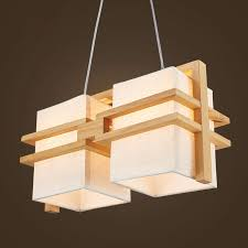 solid wooden pendant lights wood cloth