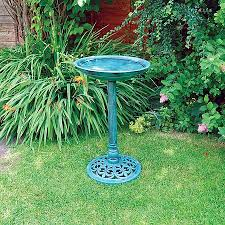 kingfisher polyresin garden bird bath