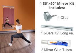 gym mirrors huge studio