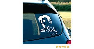 Car Window Sticker Elvis Presley The King Rock Roll Music Sign Decal V06 Presley Elvis Entertainment Memorabilia