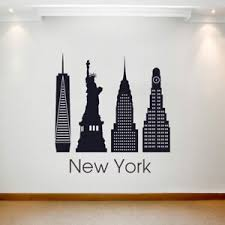 Large Wall Decal Sticker Art Removable Waterproof Vinyl Transfer City New York Ebay