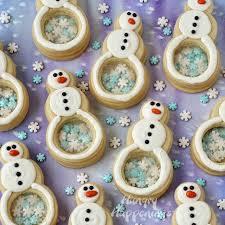 snowflake filled snowman cookies