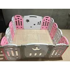 Baby Kids Playpen Fence Foldable Pink Sale Shopee Philippines