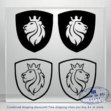 Coat Of Arms Vinyl Decal Sticker Lion Crown Auto Car Bumper Window Decals Truck Ebay