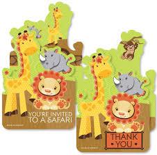 Amazon Com Funfari Divertida Selva Safari 20 Invitaciones De