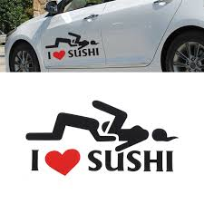 I Love Sushi Decal Funny Vinyl Sticker Universal Car Motorcycle Accessories Decorative Car Stying Car Stickers Aliexpress