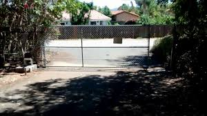 Homemade Diy Driveway Gate Motor Chain Link Fence Youtube