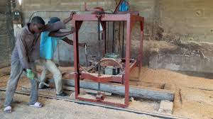 our homemade swing blade sawmill you