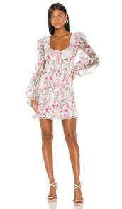 lovell burnout smocked mini dress