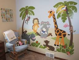 Jungle Story Large Paint By Number Wall Mural Art Wall Kids Wall Murals Kids Room Murals