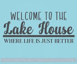 lake house vinyl lettering decals wall sticker quotes beach home