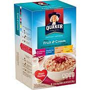 quaker fruit cream instant oatmeal