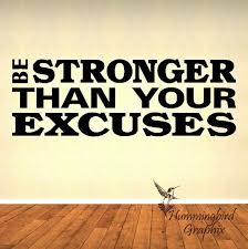 Wall Decal Be Stronger Than Your Excuses Fitness Decal Gym Decal Motivational Quote Vinyl Decal Wall Decals Stronger Than You Vinyl Lettering