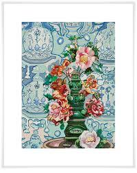 Tea Party Floral Canvas Wall Art Greenbox
