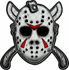 Jason Mask With Machetes Friday The 13th Horror Movie Bumper Sticker Vinyl Decal Ebay