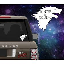House Stark Sigil Winter Is Coming Decal Outlaw Decals