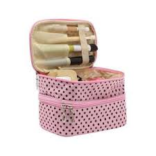 organized with cute makeup bags