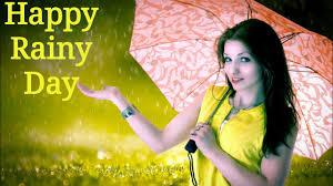 rainy day with umbrella during rain