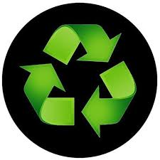 Amazon Com Recycle Sticker Trash Decal For A Recycling Trash Can 5 Round 1 Black Industrial Scientific