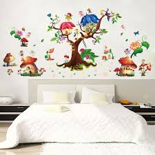 Tree House Bee Family Pvs Waterproof Wall Sticker Sale Price Reviews Gearbest