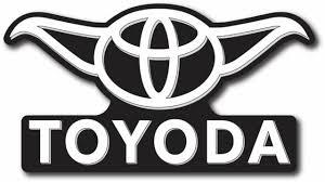 Toyoda Vinyl Window Sticker Decal Toyota Yoda Star Wars Funny 5 6 Wide For Sale Online Ebay