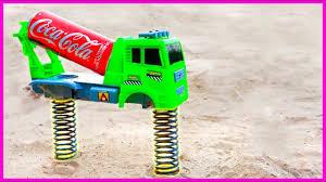 Đồ chơi ô tô cần cẩu máy xúc xe tăng - nhạc thiếu nhi #48 - WTBBLUE