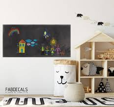 Chalkboard Decal Kids Room Decal Play Room Decor Chalkboard Etsy