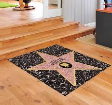Personalised Hollywood Star Floor Sticker Tenstickers