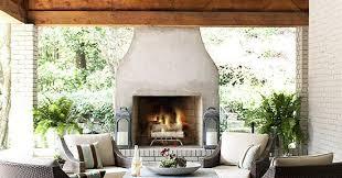 outdoor fireplace ideas better homes
