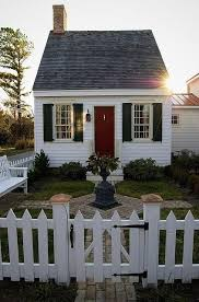 Lovely Little House With A White Picket Fence Small Cottage Homes Small Cottage House Plans Cottage Homes