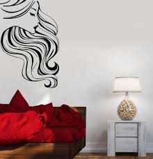 Vinyl Decal Beauty Salon Hair Barber Beautiful Woman Wall Stickers Ig1706 For Sale Online