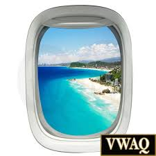 Realistic Airplane Window Wall Decal 3d Aviation Decor Beach Scene Art Vwaq Pw32 For Sale Online Ebay