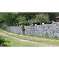 Simtek 6 Ft H X 6 Ft W Ecostone Gray Composite Fence Panel Fp72x72gry Fence Design Fence Panels Backyard