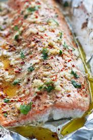 garlic er baked salmon in foil