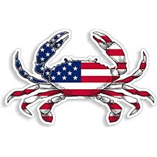 Amazon Com Usa American Flag Crab Sticker Patriotic Fishing Decal Vinyl Die Cut Car Truck Boat Bumper Window Graphic Everything Else