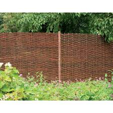 Willow Decorative Fence Panel Garden Fence Panels Decorative Fence Panels Willow Fence