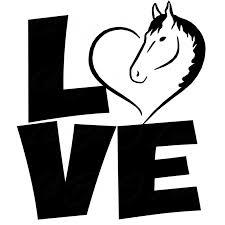 17 8cm 20 8cm Love Horse Heart Vinyl Decal Rodeo Horse Equestrian Car Sticker Auto Decoration Styling Black Sliver C8 1077 Stickers Cake Stickers Japanesesticker Car Aliexpress