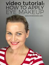 video tutorial how to apply eye makeup