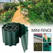 Garden Border Edging Garden Outdoors Lawn Edge 9m Edging Border Fence Wall Driveway Roll Path Plastic Brown 25cm
