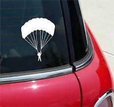 Skydiving Sticker Parachute Decal Freefall Guy Sticker Bumper Window Vinyl Decal