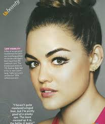 throwback lucy hale photoshoot cat eye