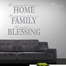 Home Family Blessing Wall Quote Decal Decor Sticker Lettering Saying Wall Art Stickers Decals Wall Decals For Cheap Wall Decals For Girls Room From Jeanwill 6 13 Dhgate Com