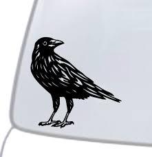 Crow Vinyl Decal Sticker Car Window Wall Bumper Black Bird American Dope Cute For Sale Online