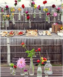Having A Party Tie Vases To The Fence And Fill With Plants Or Flowers Summer Party Decorations Easy Backyard Budget Backyard